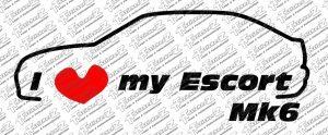i Love my Escort Mk6 Linke Fahrtrichtung