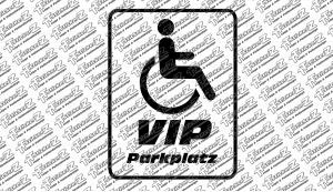 VIP Parkplatz - Behinterten Pakplatz