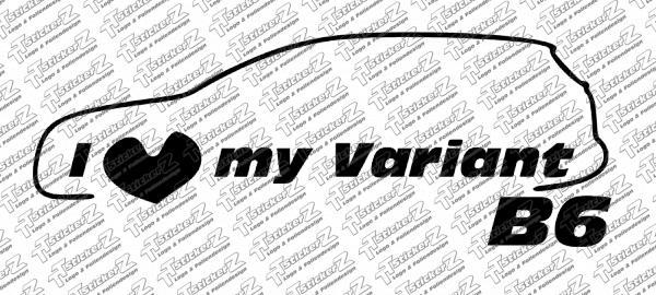 I Love my Variant (B6) einfarbig - Links