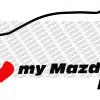 I Love my Mazda 2 Mk3 - mehrfarbig