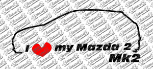 I love my Mazda 2 Mk2 mehrfarbig
