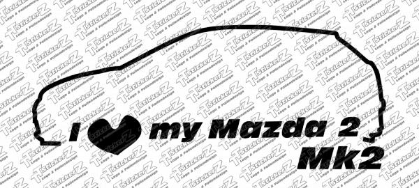 I love my Mazda 2 Mk2 einfarbig