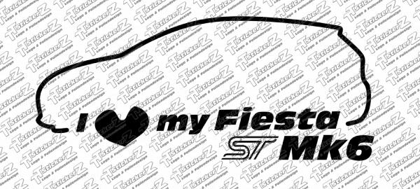 ST00042 I Love my Fiesta ST Mk6 - Links - einfarbig