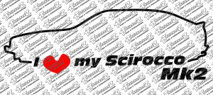 ST00043 I Love my Scirocco Mk2 - Links - mehrfarbig