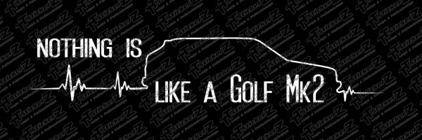 my Heart Beats like a Golf Mk2 - farhrtrichtung rechts - black