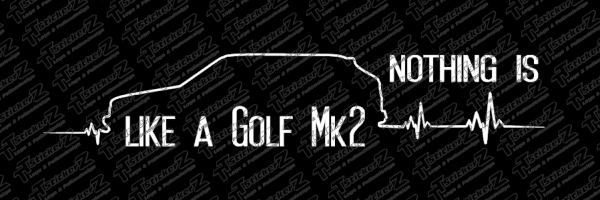 nothing is like a Golf Mk2 - black background - preview